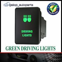 For Mitsubishi Triton Green LED Driving Lights Push Switch Pajero Sport Mirage