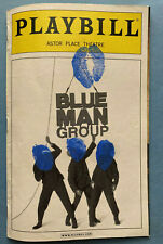 "BLUE MAN GROUP ""Signed"" Playbill (August 2007)"
