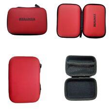 Rojo Duro ANTIGOLPES caso de cámara digital bolsa externo cuero sintético Sony