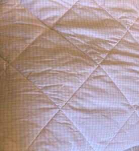 """Pottery Barn Kids 84 X 95"""" Quilted Comforter Pink Gingham White Squares"""