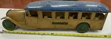 Steel Craft Inter-City Bus - Pressed Steel - 24 Inch - Yellow and Blue - Vintage