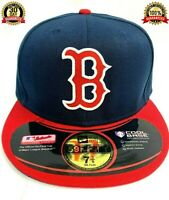 Boston Red Sox hat, BOS MLB New Era 59FIFTY Fitted Cap - 5950 Navy, size 7 3/8