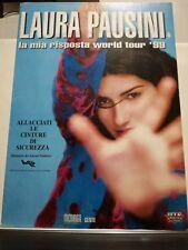 LAURA PAUSINI -MANIFESTO TOURNEE'99  nuovo cm 98 x cm 70 13 marzo 1999 MILANO
