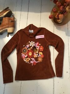 Carne Bollente Velour Embroidered Top XS/S