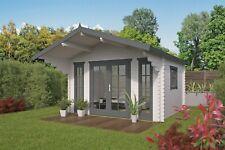 44mm Gartenhaus 380x320 cm Gerätehaus Holzhaus Holz Blockhaus Schuppen Hütte Neu