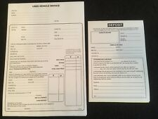 USED CAR VEHICLE INVOICE PAD AND DEPOSIT PAD FOR BUYING AND SELLING CARS VANS