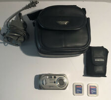 Samsung Digimax A6 6.0MP Digital Camera Silver Battery Charger TESTED WORKS I1
