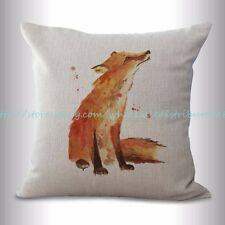US SELLER, fox animal cushion cover throw pillow case covers