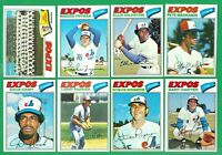 1977 TOPPS MONTREAL EXPOS TEAM SET  NM  CASH PARRISH  ROGERS  CARTER