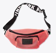 Victoria's Secret Pink Waffle Mesh Belt Bag Neon Nectar, New
