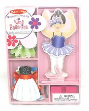 Melissa And Doug Deluxe Nina Ballerina 27 Pic Magnetic Dress Up Wooden Doll NIB