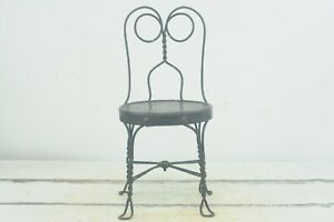 Vintage/Antique Black Childs Ice Cream Chair Antique Old Stool Parlor Soda Fount