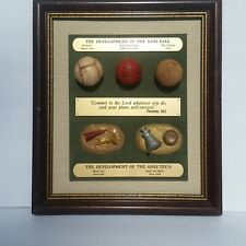 Development of the Golf Ball Tee Plaque Feathery Hand Hammered Dunlop Wood Sand