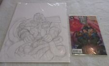 JUDGE DREDD ORIGINAL COMIC ART COVER SKETCH FOR LEGENDS OF THE LAW 4 DAVE DORMAN Comic Art