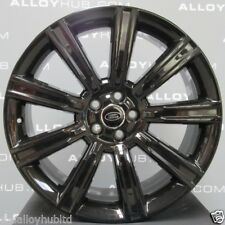 "GENUINE OEM RANGE ROVER EVOQUE STYLE 9001 20"" INCH GLOSS BLACK ALLOY WHEELS X4 !"