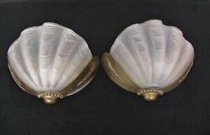 Art Deco Theater Clam Shell Sconces