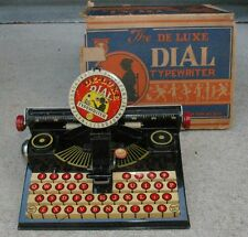Very Early Marx Deluxe Dial Typewriter in Superb Condition with Original box