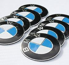 BMW 65mm Blue White WHEEL RIM CENTRE CAP Caps COVER DECAL STICKER 1 2 3 5 6 x5
