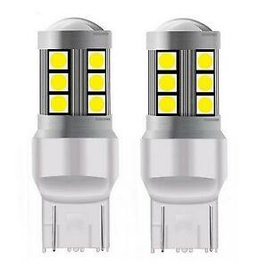 2 x Ampoules T20 LED W21/5W Blanc 15 SMD Veilleuses 7443 feu de jour Auto 800LM