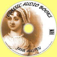 JANE AUSTEN 10 BEST UNABRIDGED CLASSIC NOVELS AUDIO BOOKS ON NEW MP3 PC/DVD EMMA