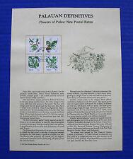 Palau - 1988 Flowers of Palau: New Postal Rates Souvenir Page