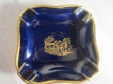ROSENTHAL / THOMAS - Kobalt blau - Porzellan Aschenbecher mit Goldrand, verziert