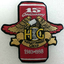 "Harley Owners Group HOG 15th Anniversay Patch 1983-1998  3¾"" X 4""  NEW"