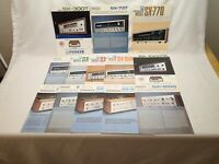 PIoneer 13 Vintage SX Receiver SA Amplifier Brochure Lot 737 838 8500II 9100 Etc