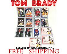 LOT OF 14 TOM BRADY ROOKIE REPRINT RC RP CARD AUTO #'d FLEER SP PLAYOFF SCORE UD