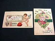 2 JOHN WINSCH EMBOSSED VALENTINE'S DAY POSTCARDS