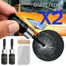 2x Automotive Glass Nano Repair Fluid Car Windshield Windscreen Chip Crack Tool