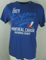 Montreal Expos Vintage MLB Blue Majestic T-Shirt M 2XL