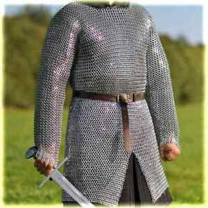 Medieval Chainmail Shirt Armour Mild Steel Riveted Ring,9 or10m,Flat Dome Washer