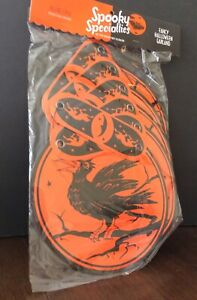 halloween paper garland by party partners old store stock in original packaging