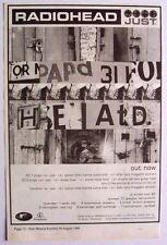 Radiohead 1995 original Advert Just the bends