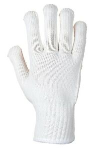 Portwest A112 Heavyweight Polka Dot Safety Glove PVC - White / Red Dotted XL