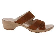 New Merrell Veranda Slide Leather Women Sandals Size 9 brwn