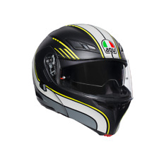 CASCO MODULARE AGV COMPACT ST BOSTON MATT BLACK / GREY / YELLOW TG L