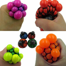 Chic Grape Anti Stress Face Reliever Mesh Ball Autism Mood Squeeze Relief Toy
