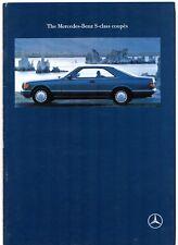 Mercedes-Benz S-Class Coupe 1990-92 UK Market Sales Brochure 420 500 560 SEC
