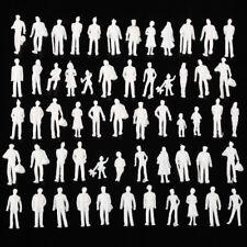100pcs HO Scale Architecture Model White Unpainted People Figures 1:100