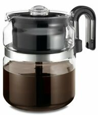 Medelco Coffee Maker 8 Cup Glass Stovetop High-Quality Percolator Free shipping
