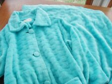 Vtg Robe Sz Med Fuzzy Sears At Home Wear Circa 1970 Turquoise Blue Housecoat