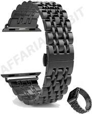 Cinturino in acciaio inox inossidabile Apple Watch taglia 42mm 44mm serie 1a6 SE