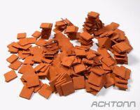 Diorama Multi-Scale Clay Roof Tile Set 1:72 1:48 1:35 Model Scenery Accessories