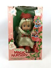 Vintage Holiday Baby Magic Nursery Doll (1991) Mattel Limited Edition Girl