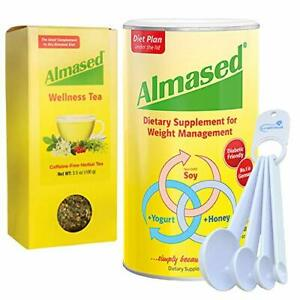 Almased Multi Protein Weight Management Supplement with Wellness Tea Bundle w...