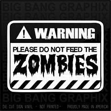 Hearse Vinyl Decal Sticker Funny Horror Zombie Joke Humor Dripping Bloody Letter
