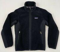 patagonia women's synchilla retro-x fleece black jacket sz xs extra small 23071