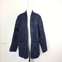 Oliver Bonas Collette Longline Relaxed Denim Jacket Blue Artist Unstructured 10